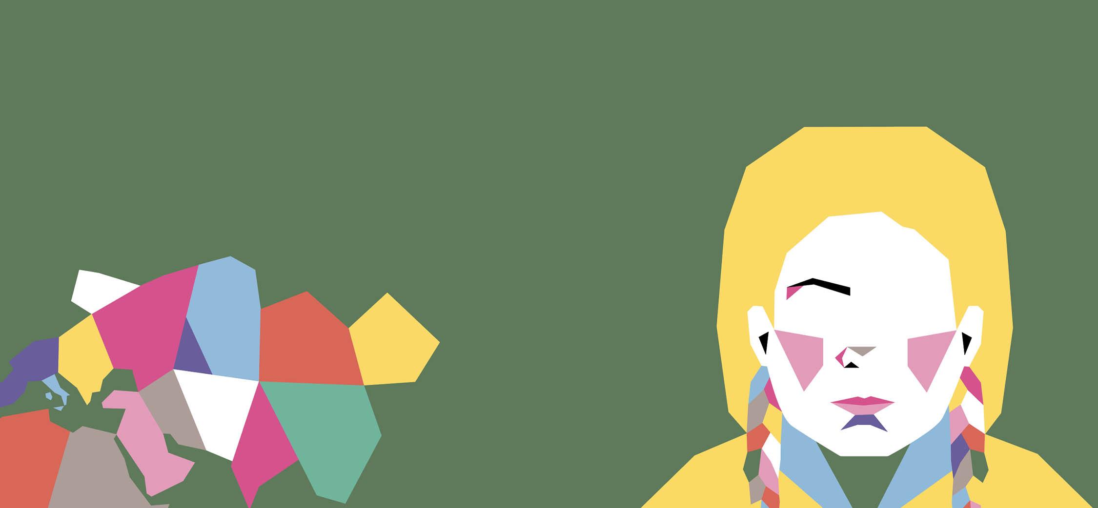 orione 16 i supereroi dettaglio di copertina illustrazione di bruna pallante, greta thurnberg